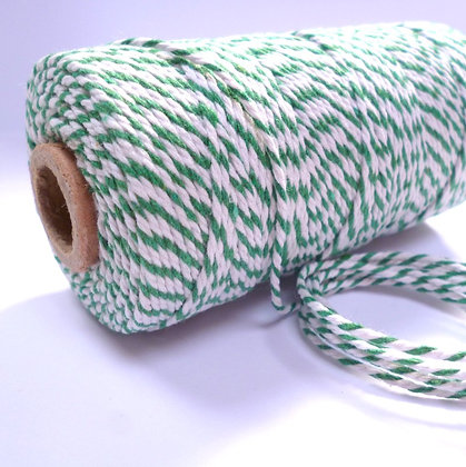 Baker's Twine Candy Stripe :: GREEN :: by the metre
