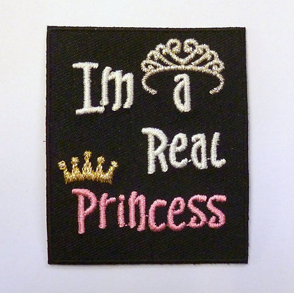 Embroidered Motif :: Black Patch :: Princess