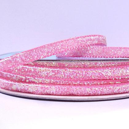 5mm Glitter Velvet Ribbon :: Candy Pink