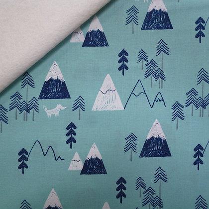 Fabric Felt :: Laska :: Mountain Wolf on Natural