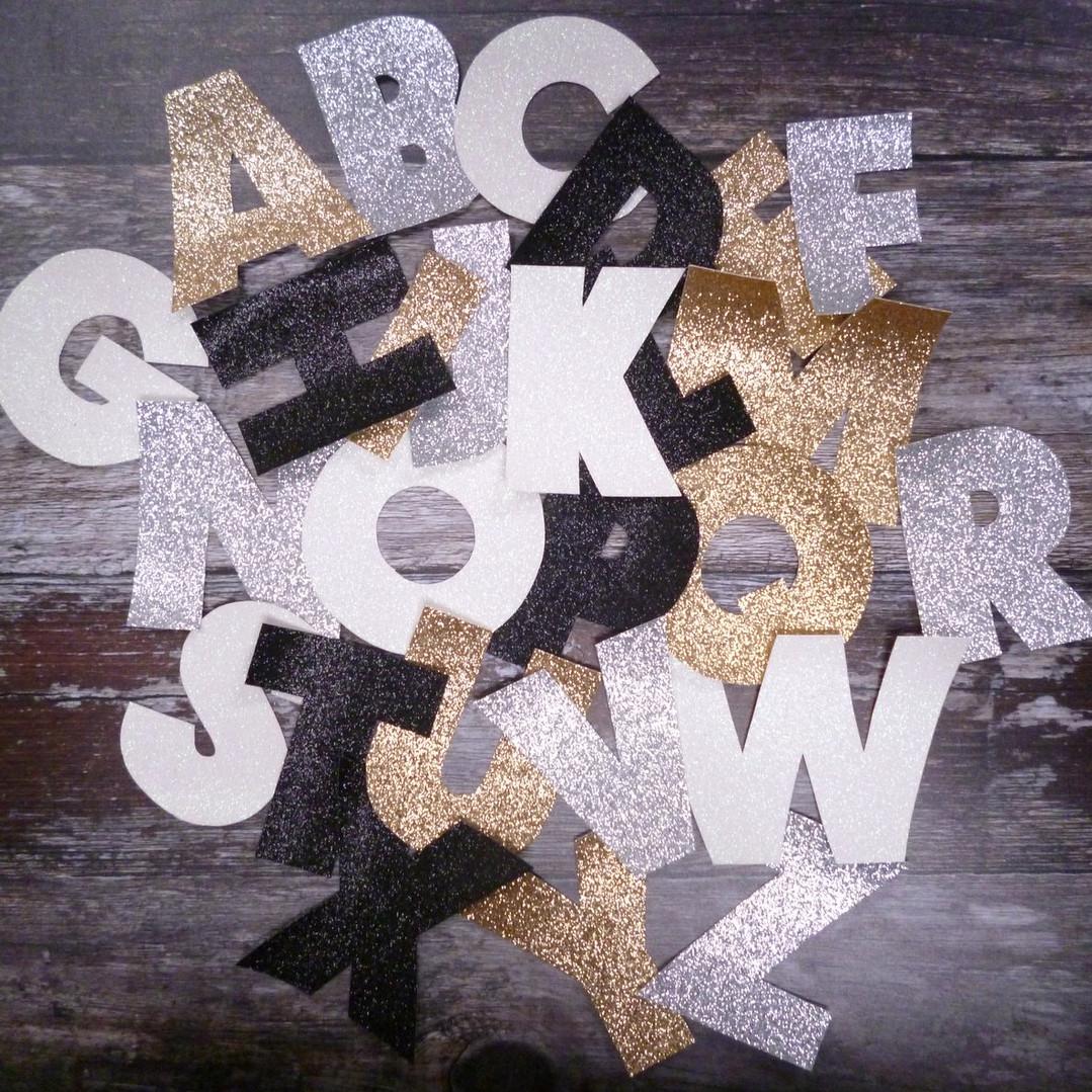 handcut letters