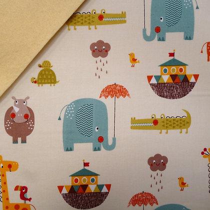 Fabric Felt :: Giraffe Crossing Noah's Ark on Vanilla