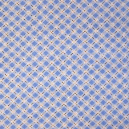 Fabric :: Diagonal Checks :: Pale Blue