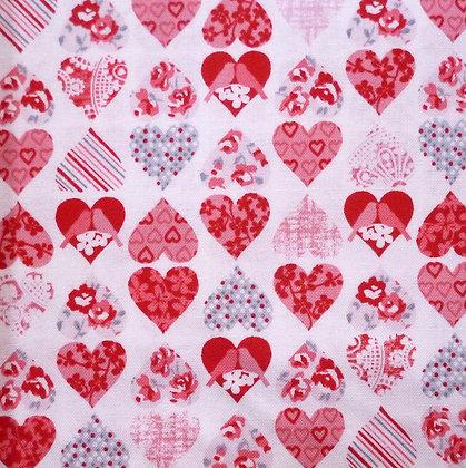 Fabric :: Hugs & Kisses Pretty Hearts