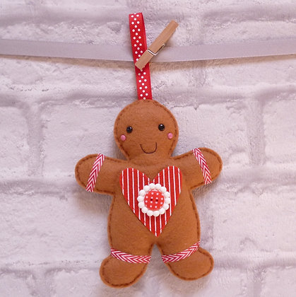 Handmade :: Gingerbread :: Mr. Stripey Heart
