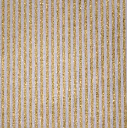 Fabric :: Metallic :: Gold Stripes