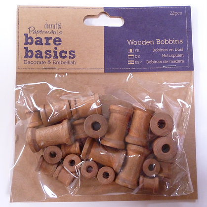 Wooden Spools :: Pack of Mini