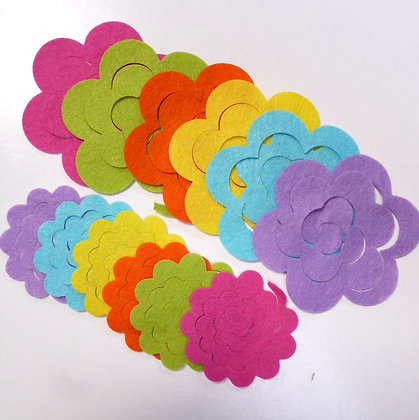 Die Cut Packs :: 3D Roses :: Neon Lights