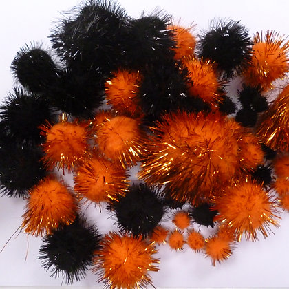 Box of Pom Poms :: Halloween Glitter