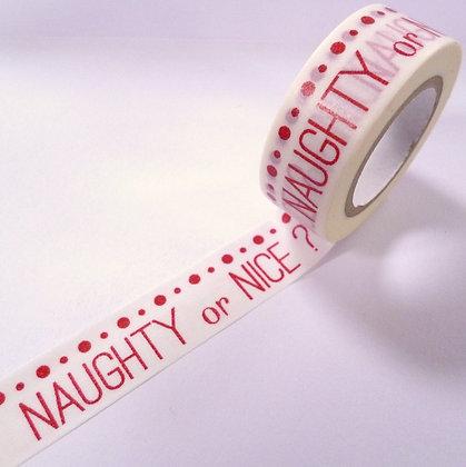 Washi Tape Roll :: Naughty or Nice?