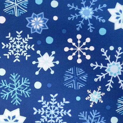 Fabric :: Snow Happy :: Snowflake Navy Blue