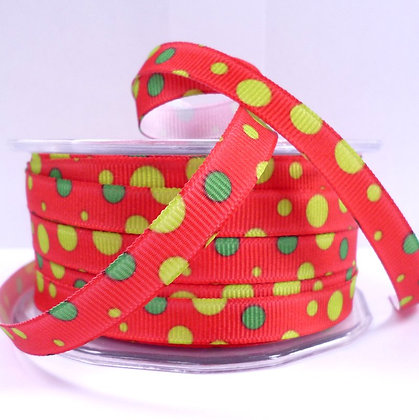 SALE :: Bubble Ribbon :: Red & Green