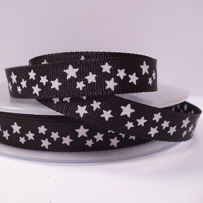 Double Sided Star Ribbon :: Black