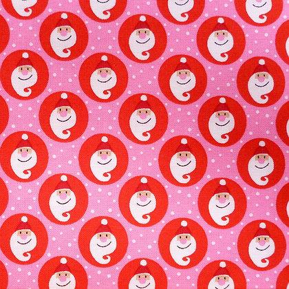 SALE Fabric :: Copenhagen :: The Santa's (Pink & Red)