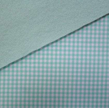 Fabric Felt :: Wide Pale Mint Gingham on Pale Mint