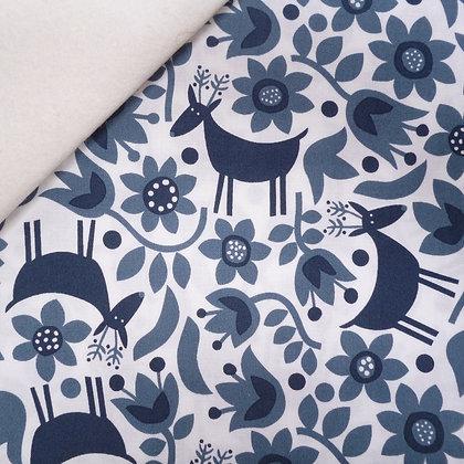 Fabric Felt :: Snow Forest :: Reindeer on Natural