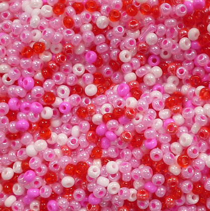 Seed bead mix :: Pinks