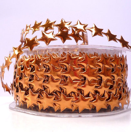 Cut Out Ribbon :: Shiny Stars Bronze