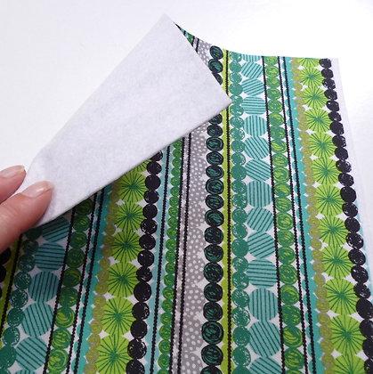 Fabric Felt :: Cool Yule Stripe Garland Green on White