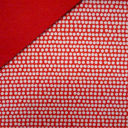 Fabric Felt :: Red Flurry Dot on Red