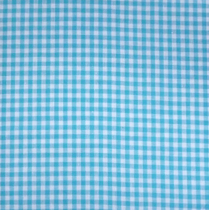 Fabric :: Wide Gingham :: Turquoise