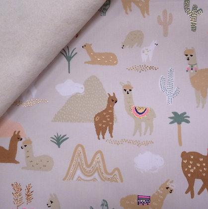Fabric Felt :: Alpaca Mountain (wide)  :: Alpacas on Natural
