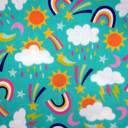 Fabric :: Chasing Rainbows :: Rainy Day Turquoise