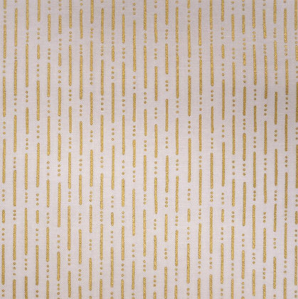 Fabric :: Party :: Gold Dashed Lines
