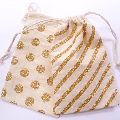 Drawstring Bags :: Glitter Stripe & Dot