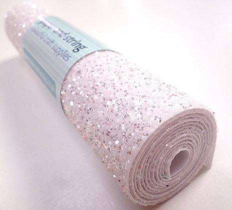 Chunky Glitter mini roll :: Chrystal White