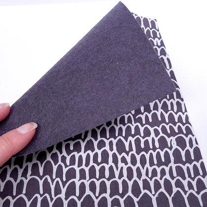 Fabric Felt :: Grey Scallop & Charcoal