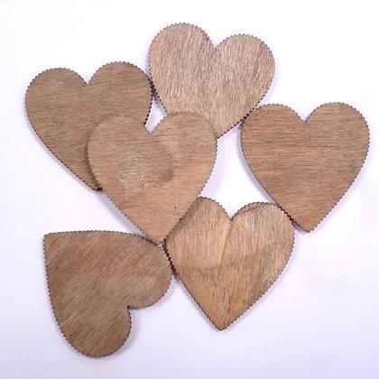Natural Wooden Shapes :: Hearts