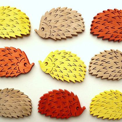 Wooden Hedgehogs Pack