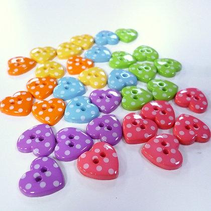 Polka Dot Heart Button
