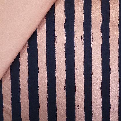 Fabric Felt :: Blush :: Navy & Stripe on Blush LAST FEW
