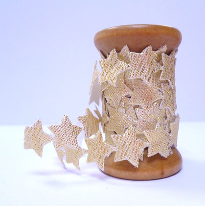 Trim On Wooden Spools :: Gold Stars