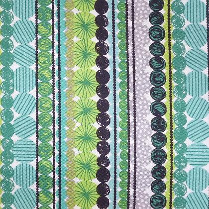Fabric :: Cool Yule :: Garland Stripe Green
