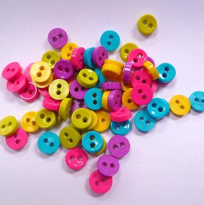 Pack of extra tiny 2 holes :: Brights