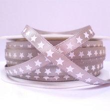 "1/4"" star ribbon :: grey"