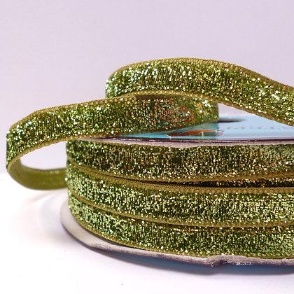 10mm LUXURY Glitter Velvet Ribbon :: Pale Green