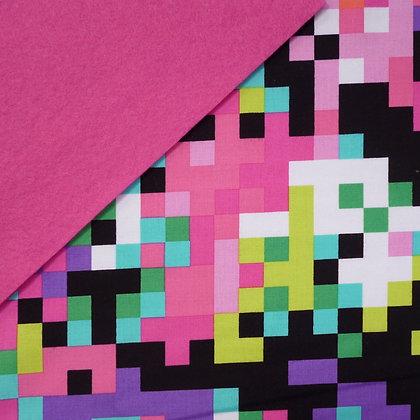 Fabric Felt :: 80's Matrix on Candy Pink LAST FEW