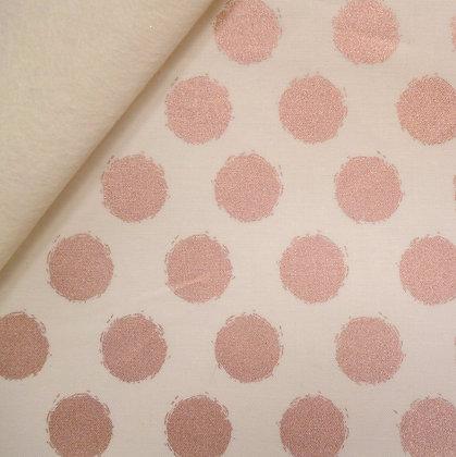 Fabric Felt :: Blush :: Cream & Dots on Natural LAST FEW