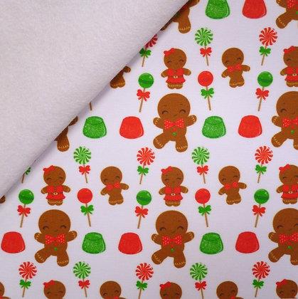 Artisan Fabric Felt :: Gingerbread & Lollies on white