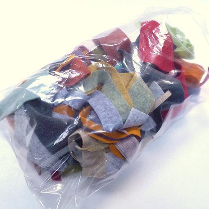 Felt Remnant Pack :: Heathered Felt Pieces :: 125g