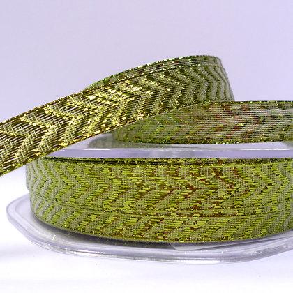 Lurex Chevron Ribbon :: Green