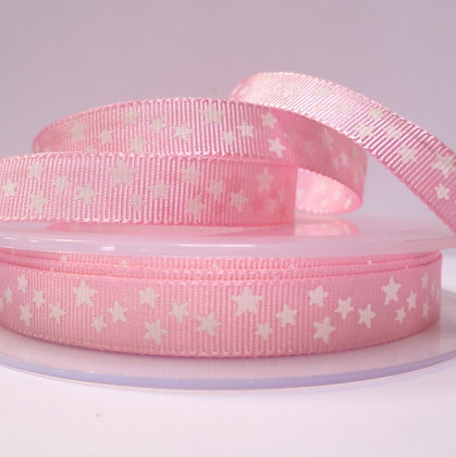 Double Sided Star Ribbon :: Pale Pink