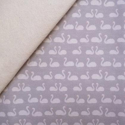 Artisan Fabric Felt :: Mini Swans on Natural