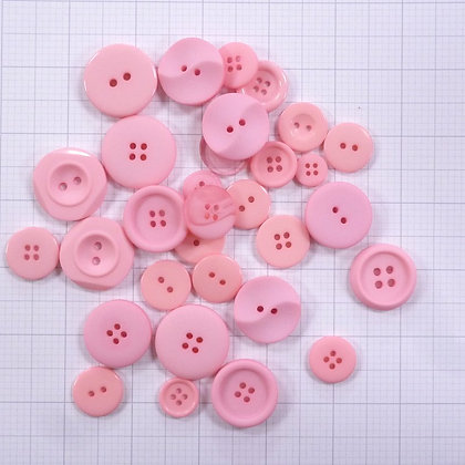 Dyed Buttons By Weight :: Pink