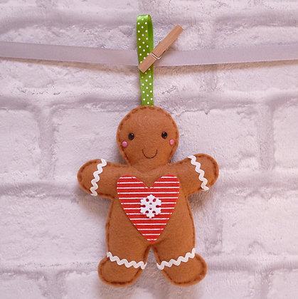 Handmade :: Gingerbread :: Mr. Snowflake Heart
