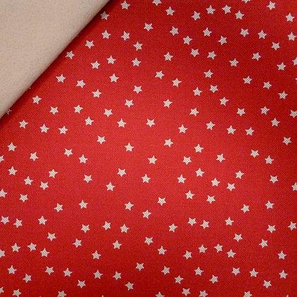 Fabric Felt :: Natural Christmas :: Little Stars (on red) on Beige